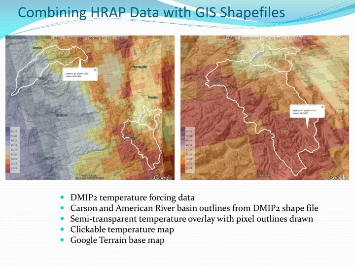 Combining HRAP Data with GIS Shapefiles