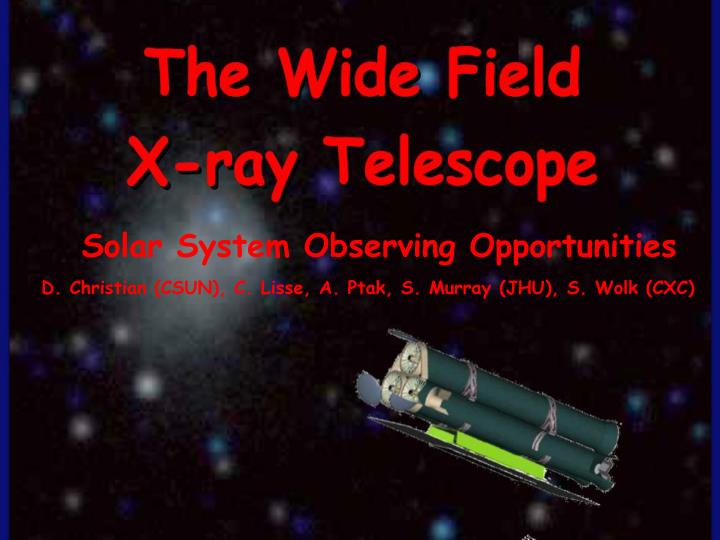 Solar System Observing Opportunities