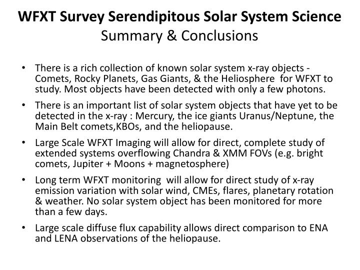 WFXT Survey Serendipitous Solar System Science