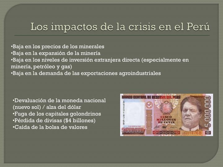 Los impactos de la crisis en el Perú