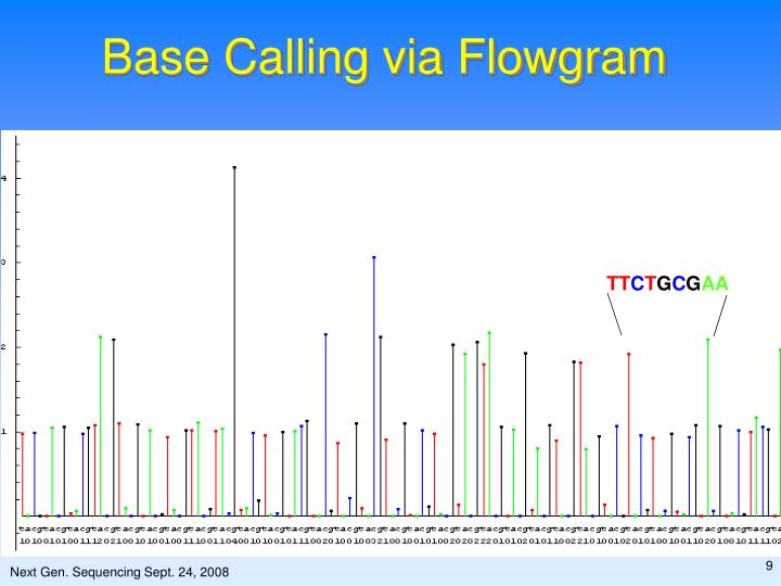 Base Calling via Flowgram