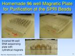homemade 96 well magnetic plate for purification of the spri beads