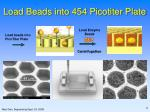 load beads into 454 picotiter plate