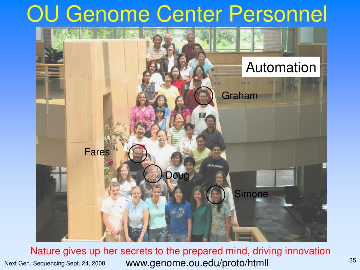 OU Genome Center Personnel