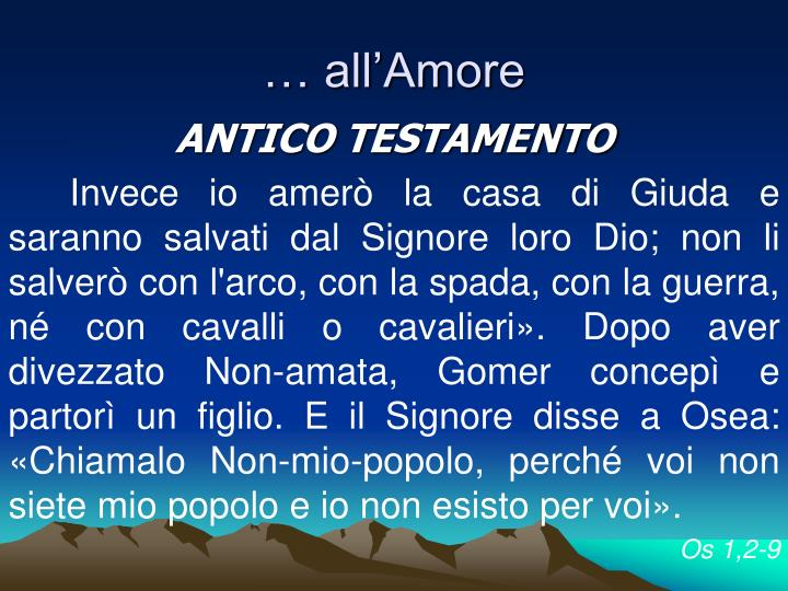 … all'Amore