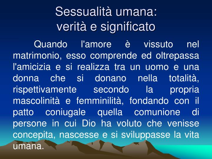 Sessualità umana: