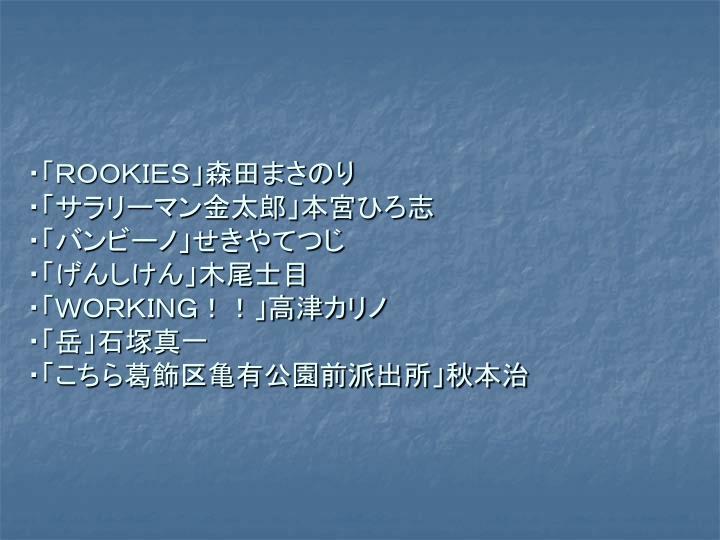 ・「ROOKIES」森田まさのり