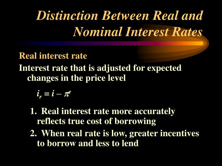 Distinction Between Real and