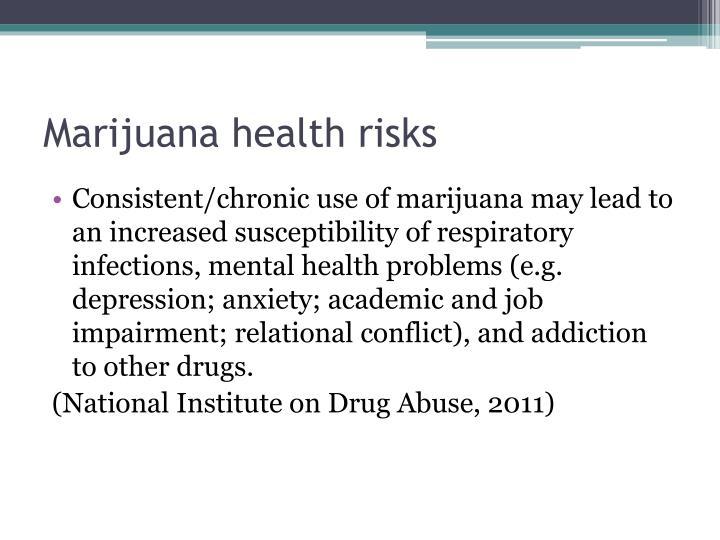 Marijuana health risks