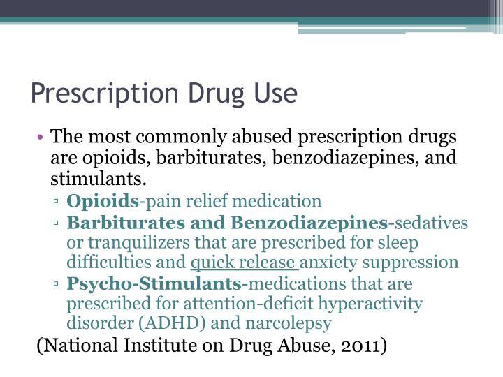 Prescription Drug Use