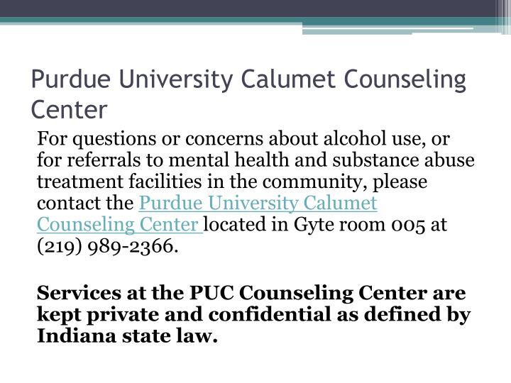 Purdue University Calumet Counseling Center