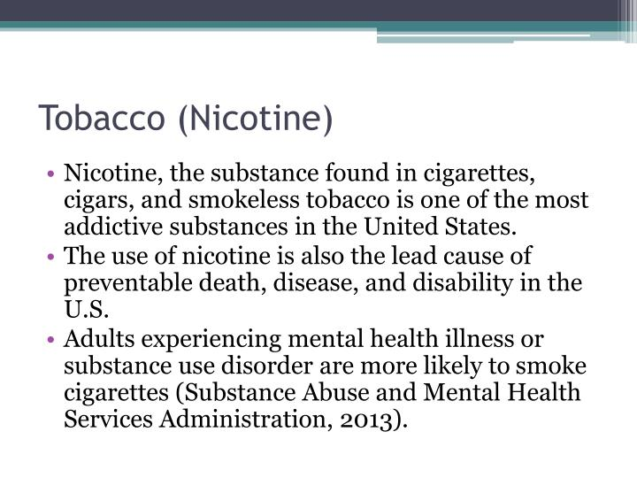 Tobacco (Nicotine)