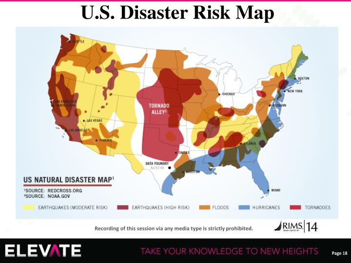 U.S. Disaster Risk Map