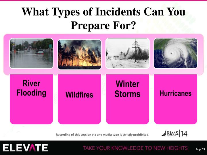 What Types of Incidents Can You Prepare For?