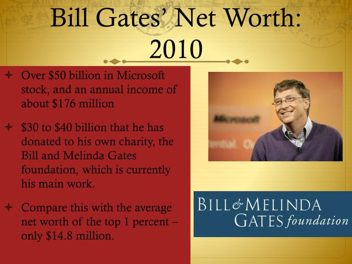 Bill Gates' Net Worth: 2010