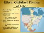 effects globalized division of labor