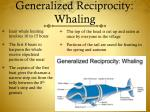generalized reciprocity whaling
