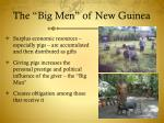 the big men of new guinea