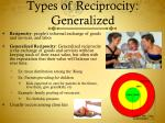 types of reciprocity generalized