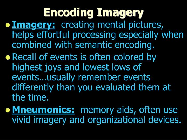 Encoding Imagery