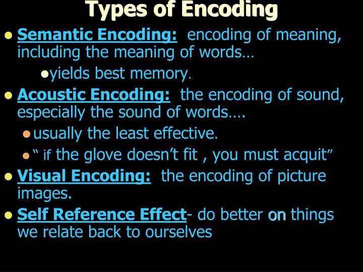 Types of Encoding
