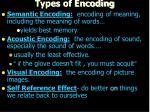 types of encoding1