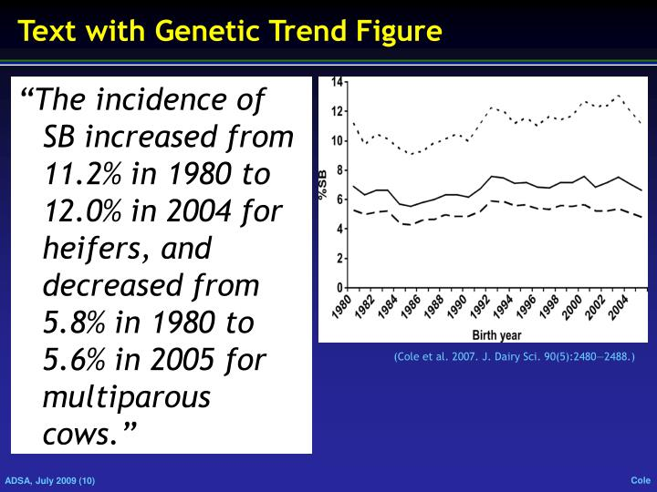 Text with Genetic Trend Figure
