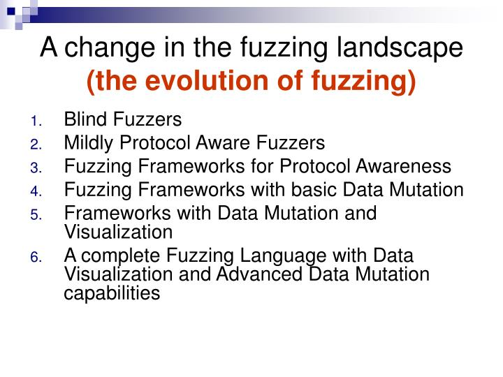 A change in the fuzzing landscape