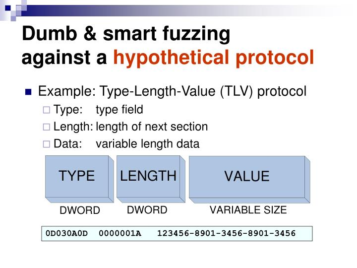 Dumb & smart fuzzing