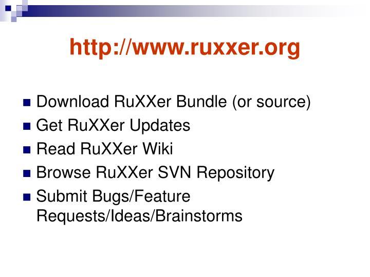 http://www.ruxxer.org
