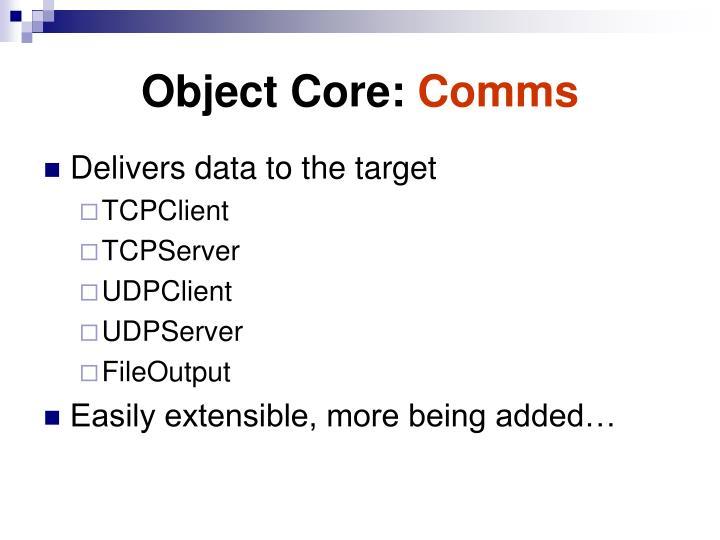 Object Core: