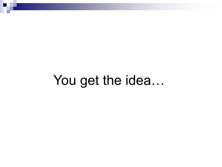 You get the idea…