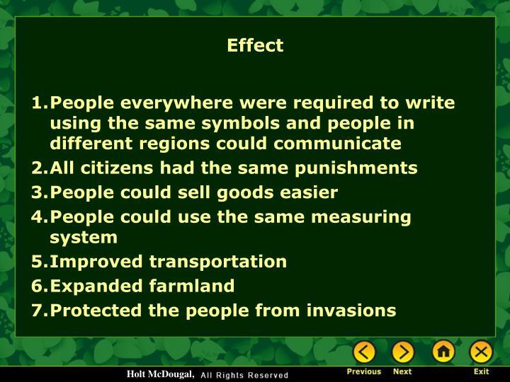 Effect