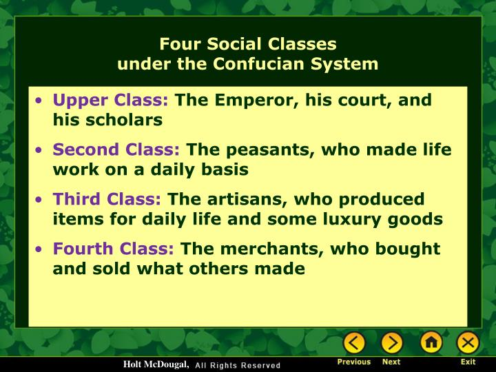 Four Social Classes