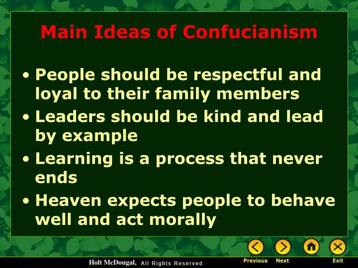 Main Ideas of Confucianism