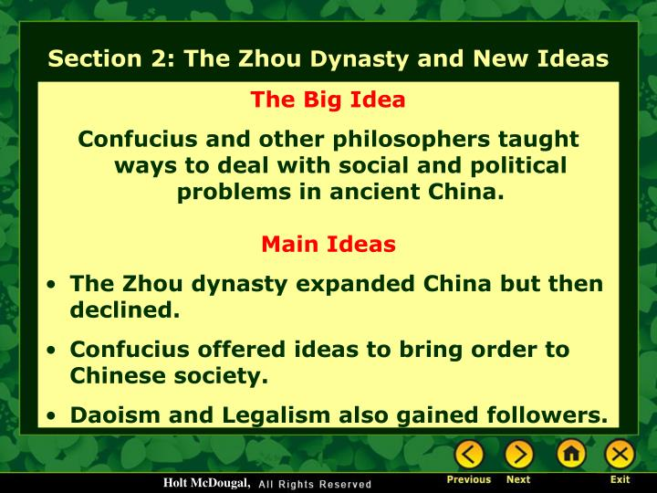 Section 2: The Zhou
