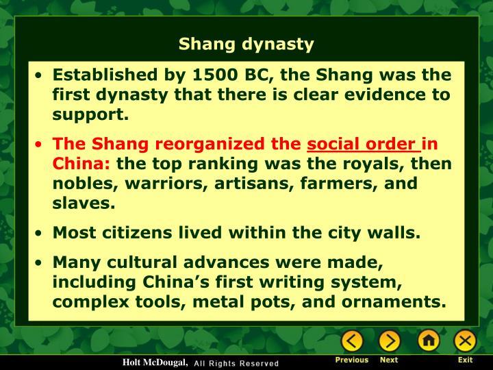 Shang dynasty