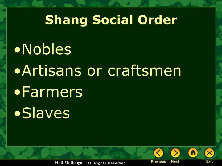 Shang Social Order