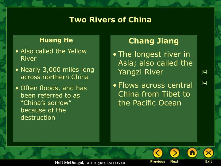 Two Rivers of China