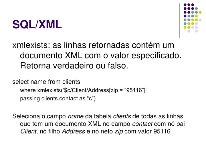 SQL/XML