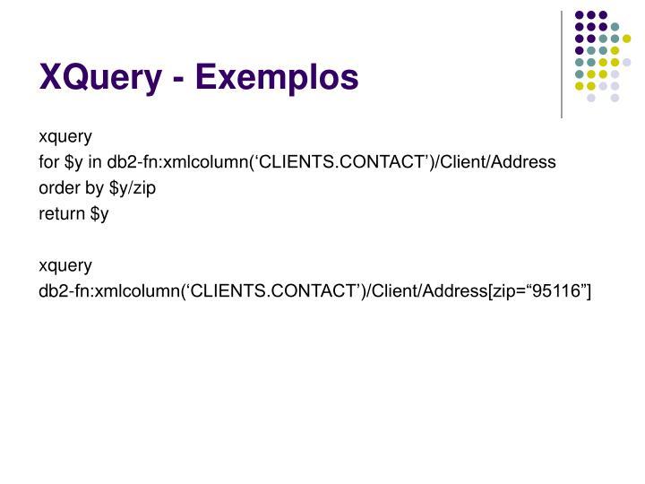 XQuery - Exemplos