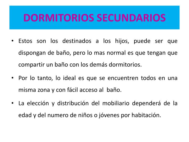 DORMITORIOS SECUNDARIOS