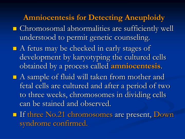 Amniocentesis for Detecting Aneuploidy
