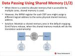 data passing using shared memory 1 2