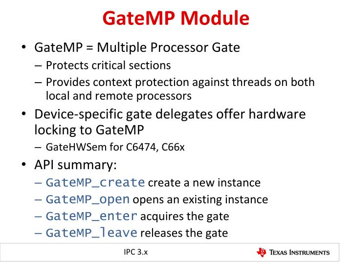 GateMP Module