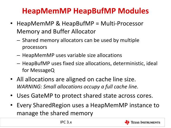 HeapMemMP HeapBufMP Modules
