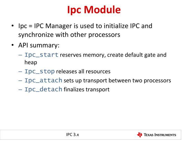 Ipc Module