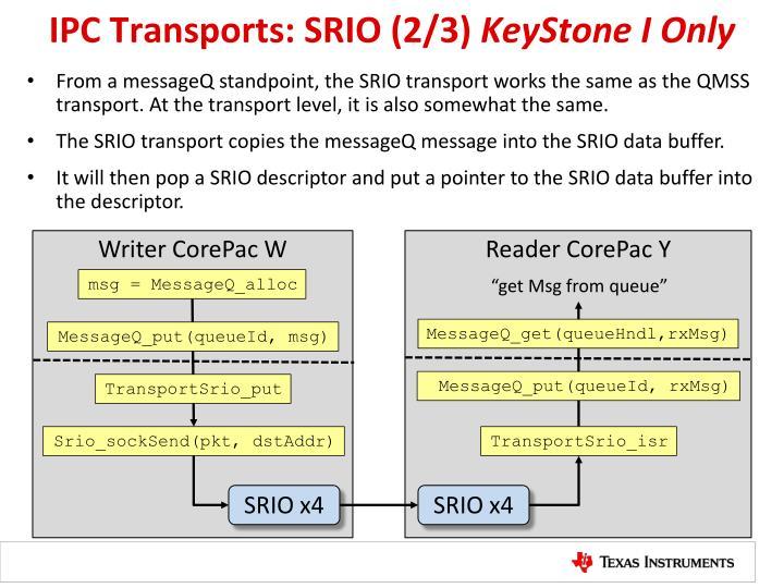 IPC Transports: SRIO (2/3)