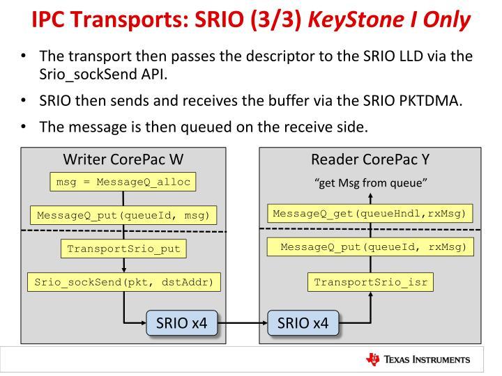 IPC Transports: SRIO (3/3)