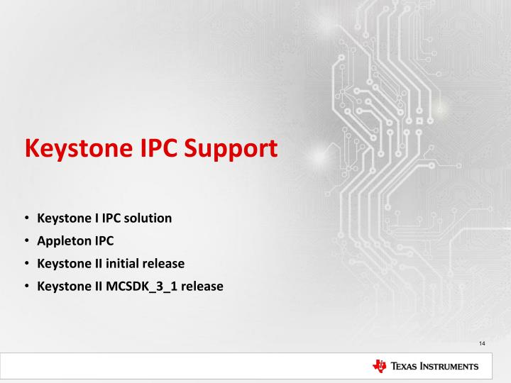 Keystone IPC Support